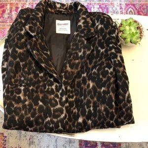Boho Leopard Print Coat